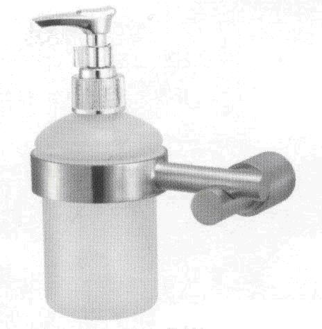 OS Bathroom Wall Glass Soap Dispenser Stainless Steel Bathroom Accessories