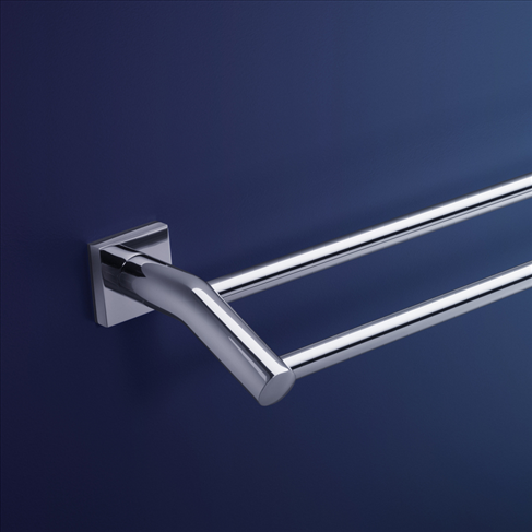 Dorf Enix Wall Double Towel Rail -600mm Bathroom Accessories