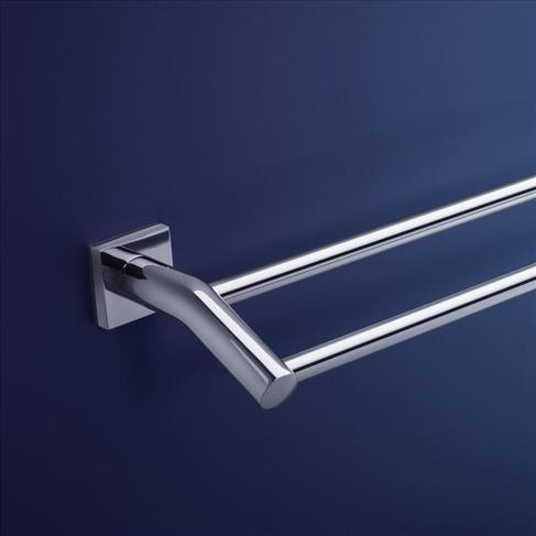 Dorf Enix Wall Double Towel Rail - 900mm Bathroom Accessories