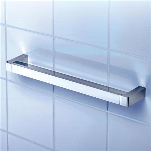 Dorf Motif Wall Shower Shelf Bathroom Accessories Chrome