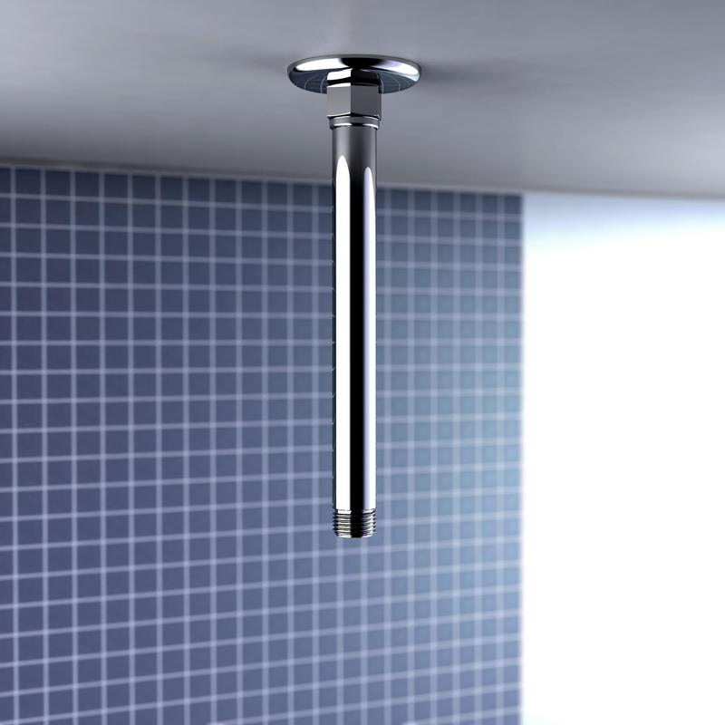 Caroma Ceiling Mounted Straight Arm - 200mm Bathroom Shower