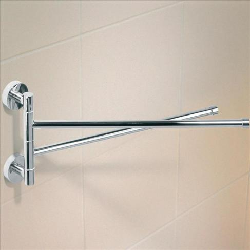 Caroma Cosmo Bathroom Wall Metal Towel Arms Chrome Finish