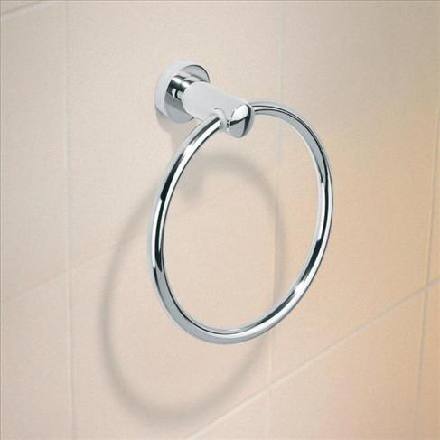 Caroma Cosmo Bathroom Wall Circle Metal Towel Ring Holder
