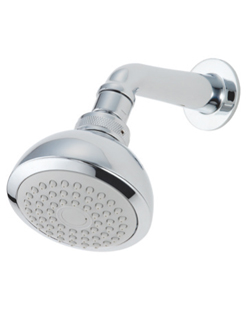 Flexispray Aurora Bathroom Wall Shower Rose Round Chrome