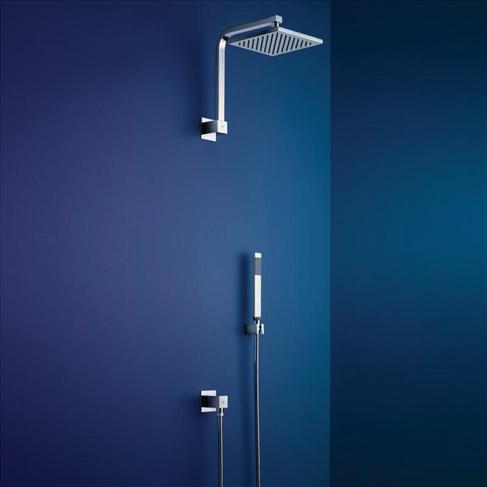 Dorf Arc Bathroom Wall Shower System With Diverter Wels Square Chrome