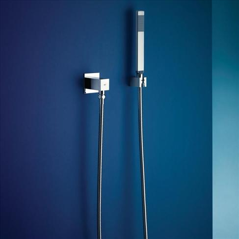 Dorf Arc Bathroom Wall Hand Shower With Elbow Wels Chrome