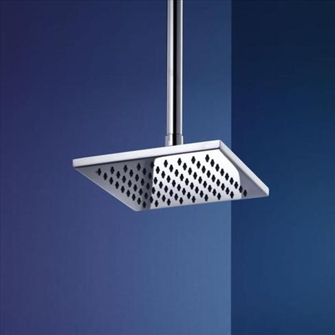 Dorf Arc Bathroom Overhead Rain Shower Head Only Chrome