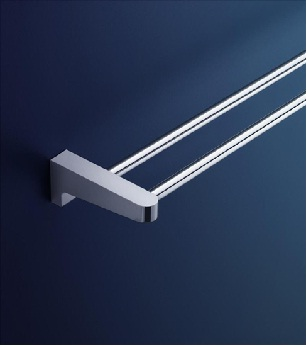 Dorf Arc Wall Double Towel Rail - 800mm Bathroom Accessories