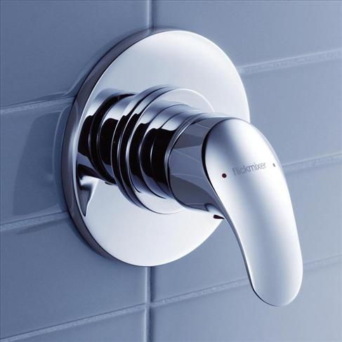 Dorf Flickmixer Bathroom Wall Bath / Shower Mixer Chrome