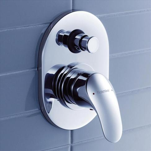 Dorf Flickmixer Wall Bathroom Bath / Shower Mixer With Diverter