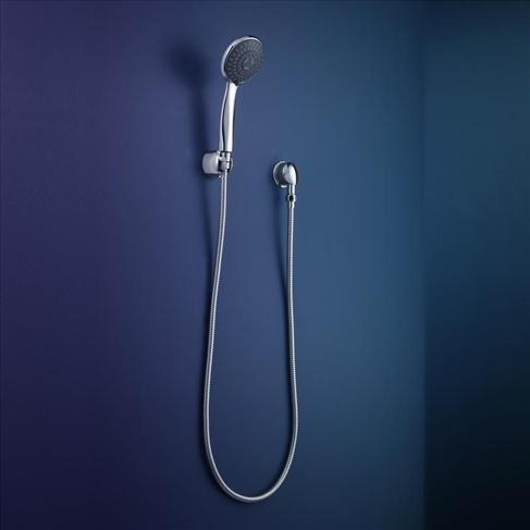 Dorf Tempus Bathroom Wall Hand Shower 5 Spray Action Chrome