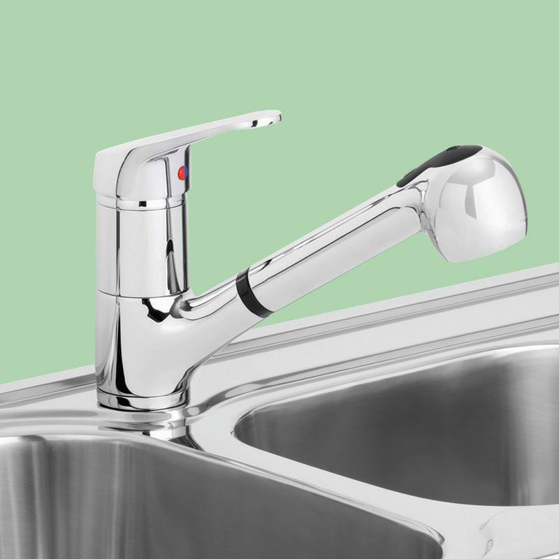 Stylus Symphony Vegie Kitchen Spray Wels Mixer Tap Chrome