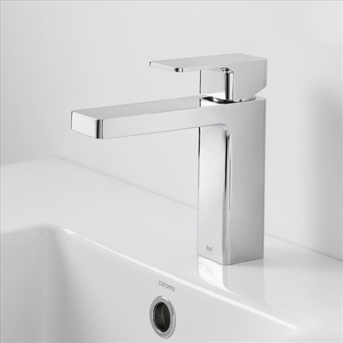 Dorf Epic Bathroom Vanity Basin Mixer Tap Chrome Square