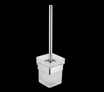 Rossto Glass Toilet Brush And Holder Chrome Bathroom Accessories