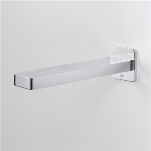 Dorf Epic Bathroom Wall Bath Outlet- 180mm Chrome Square