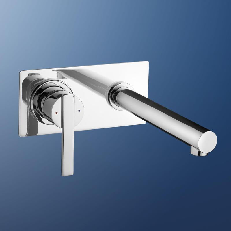 Irwell Yukon Bathroom Wall Bath Mixer Tap Chrome