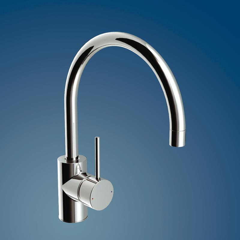 Irwell Pin Lever Gooseneck Sink Wels Mixer Outlet Chrome
