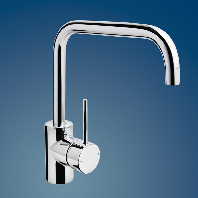 Irwell Pin Lever Wels Sink Mixer Square Outlet Chrome