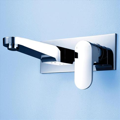 Caroma Track Bathroom Wall Basin Wels Mixer Tap Chrome
