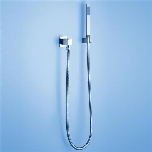 Caroma Track Bathroom Wels Wall Hand Shower With Hose Square Chrome