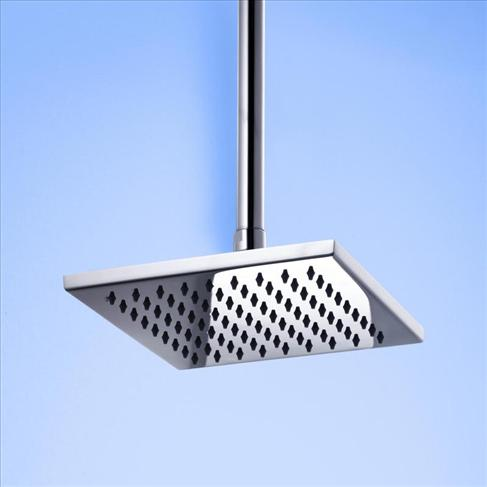 Caroma Track Overhead Rain Shower Head Wels Square Chrome