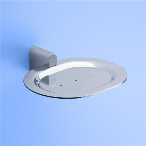 Caroma Track Round Wall Soap Dish Holder Chrome Bathroom Accessories