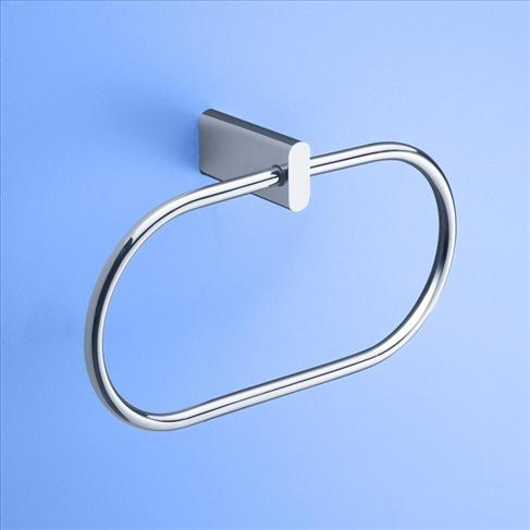 Caroma Track Wall Bath Towel Ring Bathroom Accessories Chrome