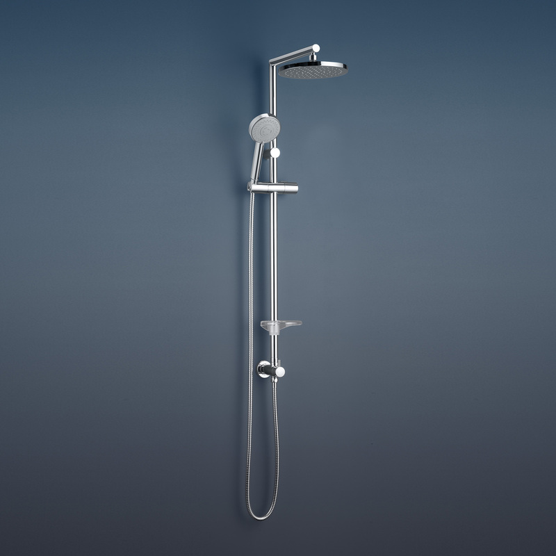 Caroma Essence Bathroom Wall Rail Shower With Overhead Wels Chrome