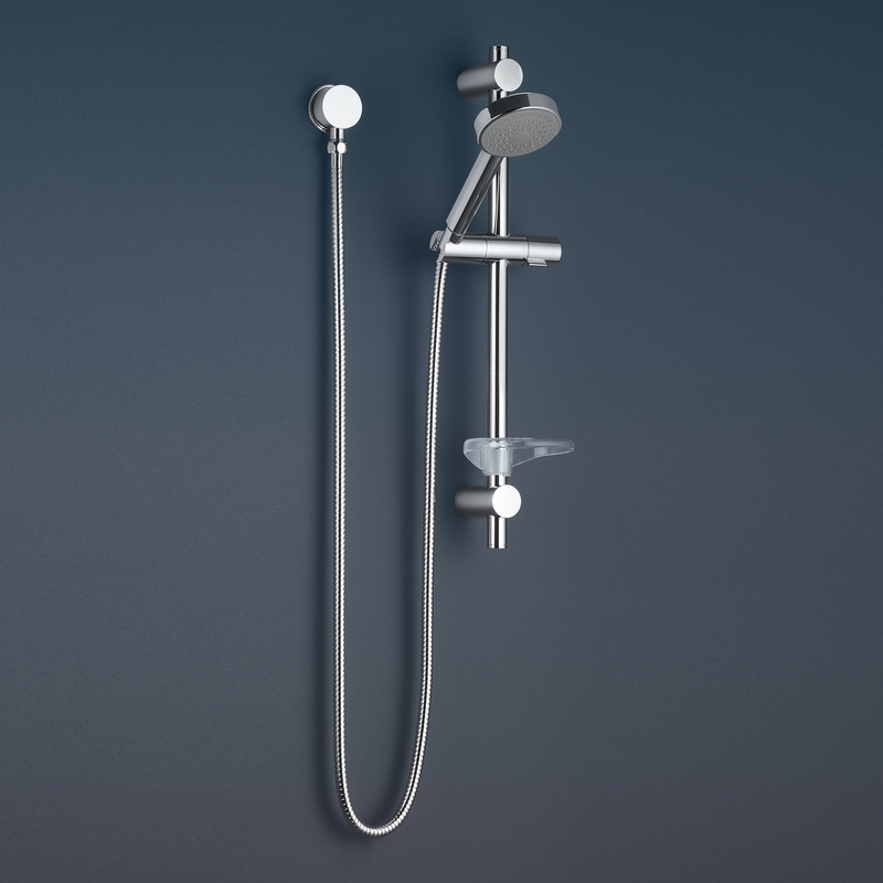 Caroma Essence Bathroom Wall Single Function Rail Shower Wels Chrome