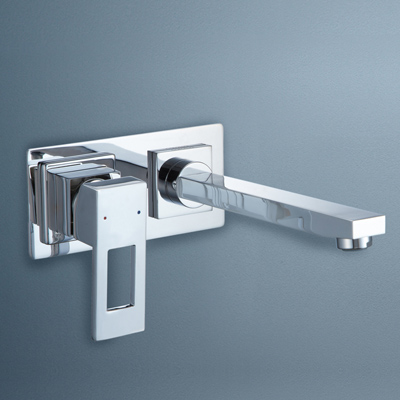 Caroma Quatro Bathroom Wall Bath Mixer Square Loop Handle