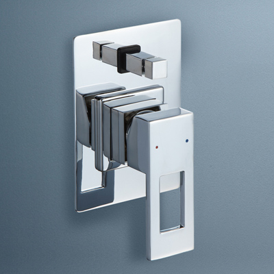 Caroma Quatro Bathroom Wall Bath / Shower Mixer With Diverter Square
