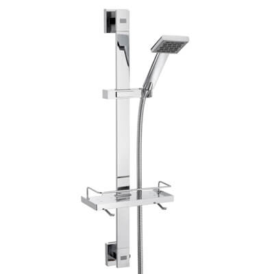 Caroma Quatro Bathroom Wall Rail Wels Shower Chrome Adjustable Height