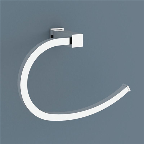 Caroma Quatro Bathroom Hand Towel Ring Chrome Quare