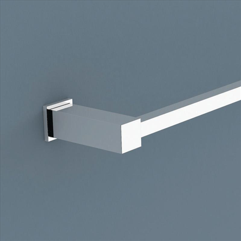 Caroma quatro bathroom accessories bath single towel rail for C bhogilal bathroom accessories