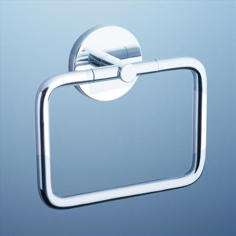 Caroma Liano Wall Bathroom Square Bath Towel Ring Holder Chrome