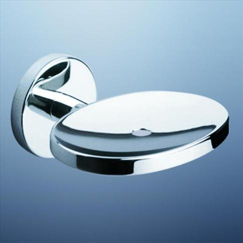 Caroma Liano Bathroom Wall Soap Dish Holder Chrome Round