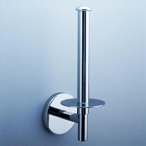 Caroma Liano Bathroom Wall Round Spare Toilet Paper Roll Holder Chrome