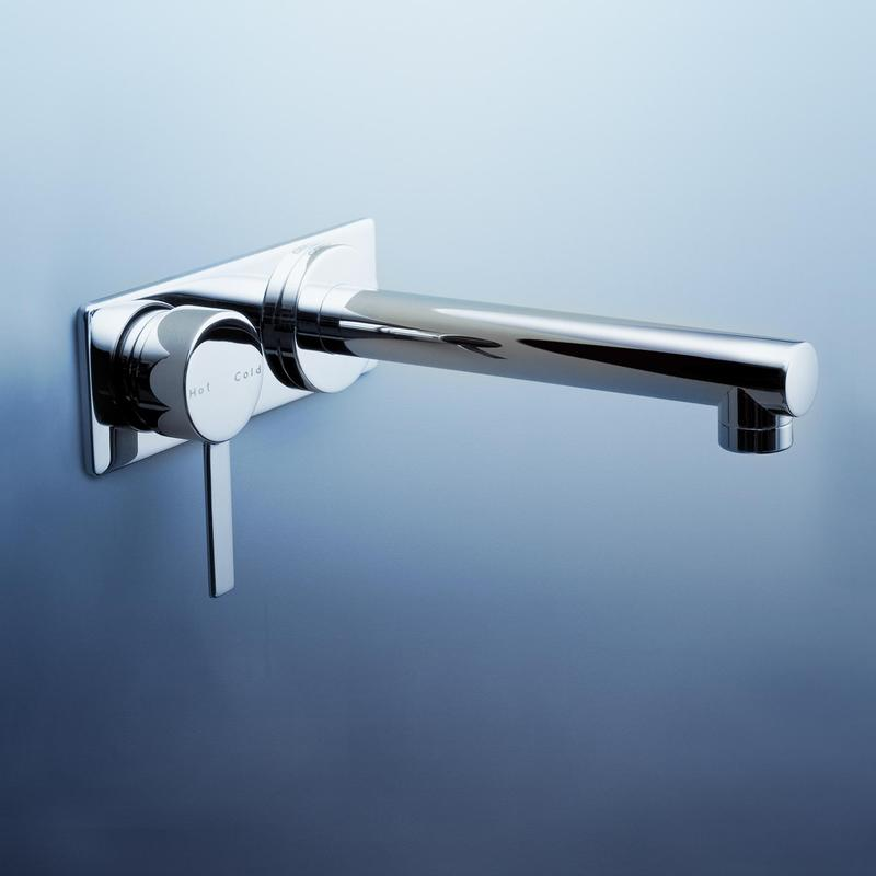 Caroma Liano Bathroom Wall Bath Mixer With Straight Outlet