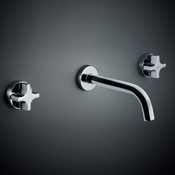 Dorf Myriad Cross Bath Set - Circle Flange