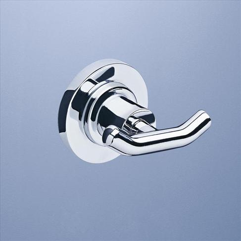 Caroma Metro Round Double Robe Hook Bathroom Accessories Chrome