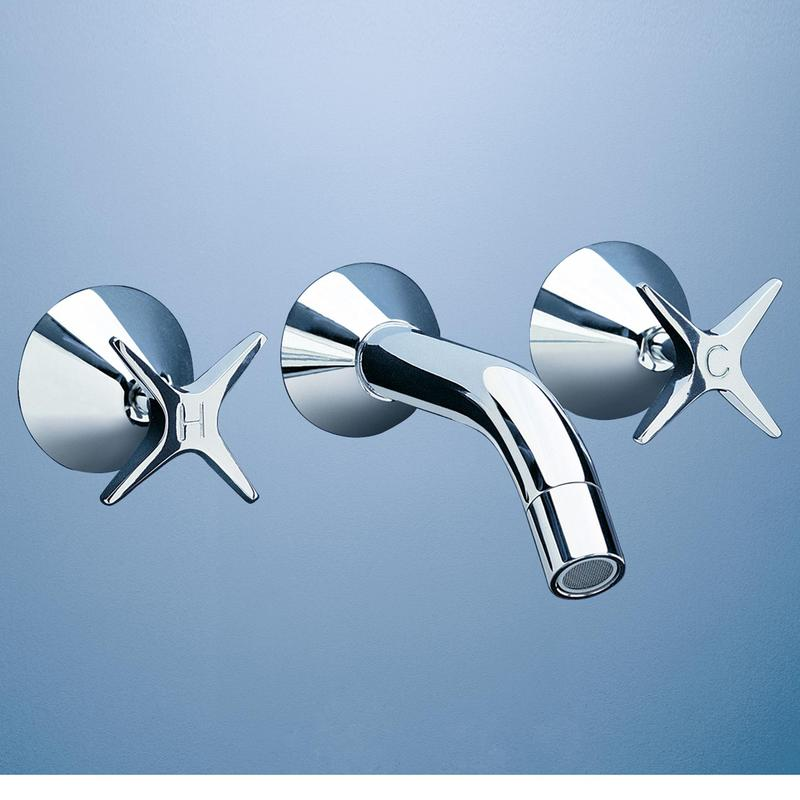 Caroma Retro Bathroom Wall Bath Tapware Set Chrome