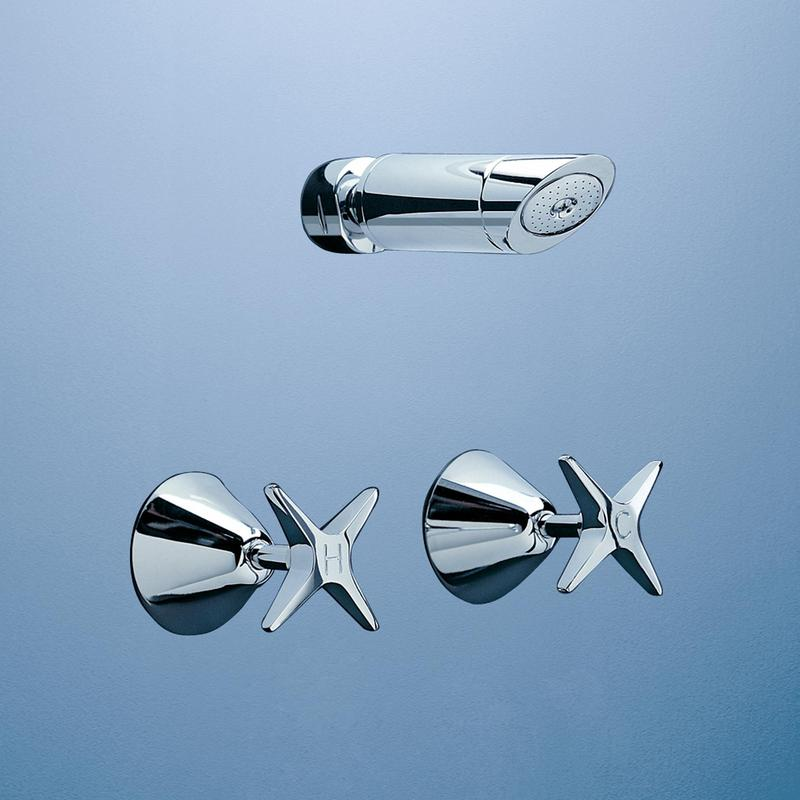 Caroma Retro Bathroom Wall Wels Shower Tapware Set Chrome