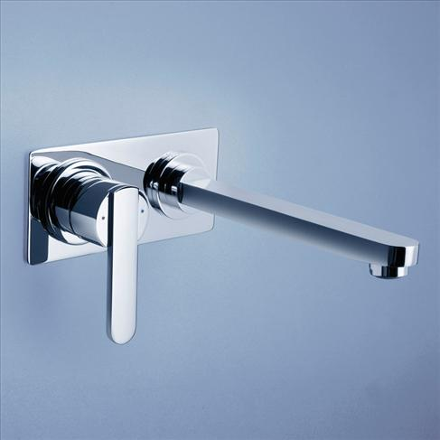 Caroma Saracom Bathroom Wall Wels Basin Mixer With Spout - 200mm