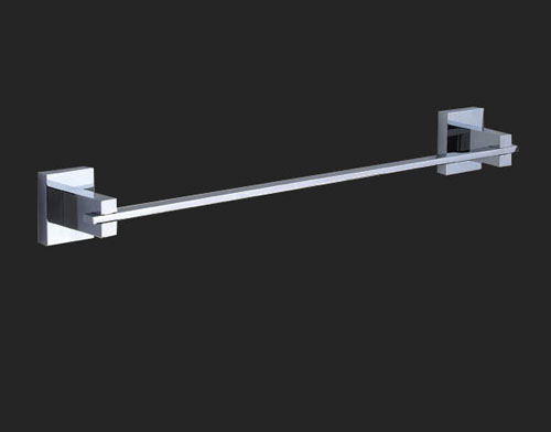Rossto Nova Wall Single Towel Rail 750mm Square Bathroom Accessories