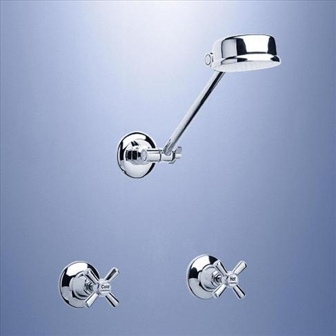 Caroma Tasman II Deluxe Bathroom Wels Wall Shower Tapware Set