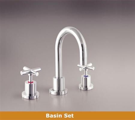 OS OSR-GWEN Bathroom Vanity Wels Basin 3 Piece Tapware Set