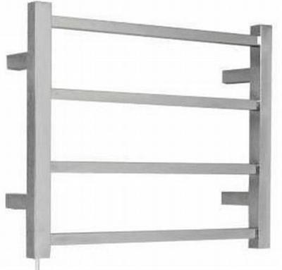 OS Bathroom Wall Heated Towel Rail Square 4 Bars