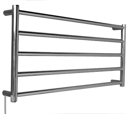 OS Bathroom Wall Heated Towel Rail HT-5BR - Round Bars