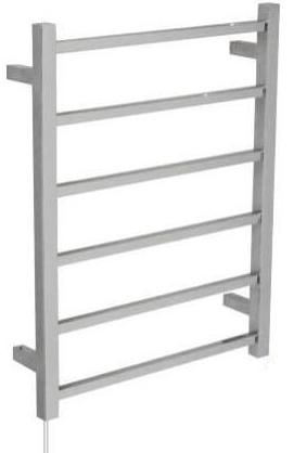 OS Bathroom Heated Towel Rail Square 6 Bars