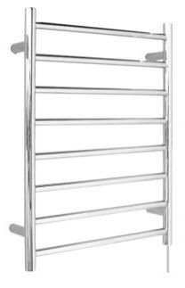 OS Bathroom Wall Heated Towel Rail 8 Round Bars